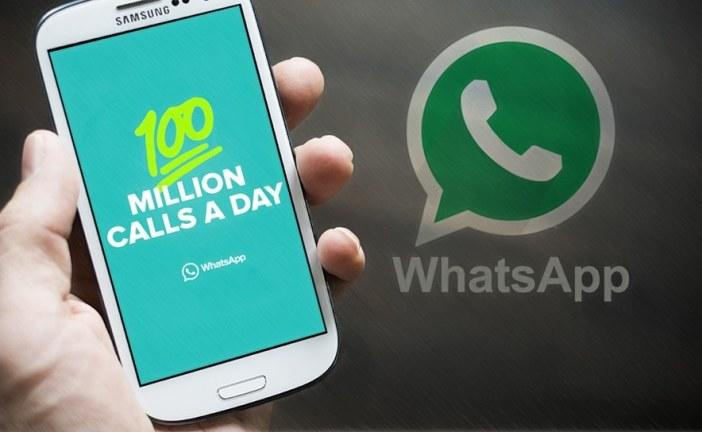 WhatsApp registra 100 milhões de chamadas de voz por dia