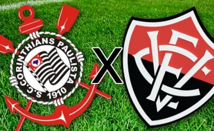 Pela série A, Corinthians recebe o Vitória que está na zona de rebaixamento