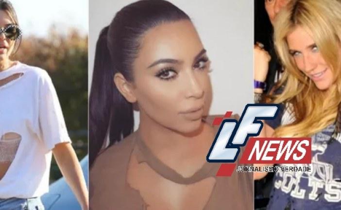 Blusa rasgada está na moda e clã Kardashian já está usando