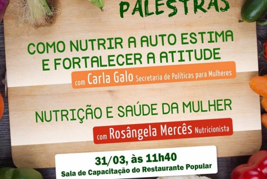 Nutrição e saúde da mulher são temas de palestra em Lauro de Freitas