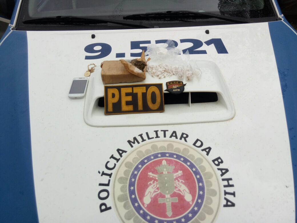 Lauro de Freitas: Polícia prende em flagrante homem com drogas em Vila Praiana