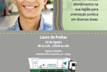 Unidade Móvel da Defensoria Pública atenderá em Lauro de Freitas no dia 24 de agosto