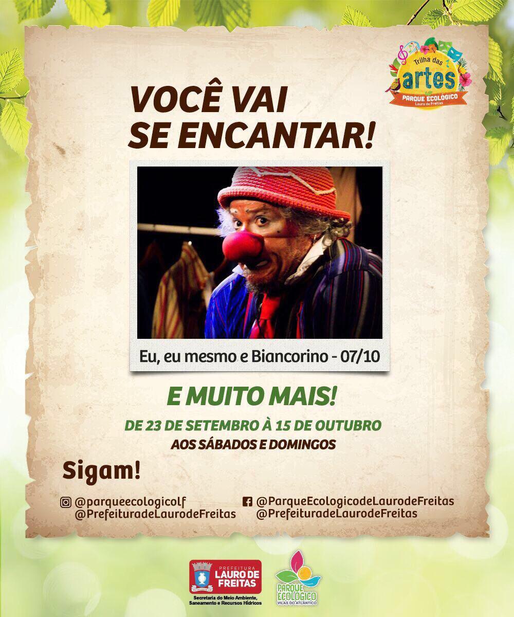 Projeto Trilha das Artes continua neste final de semana no Parque Ecológico de Vilas