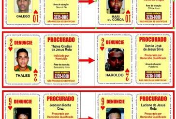 SSP atualiza três cartas do Baralho do Crime; veja fotos