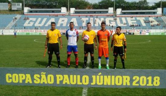 Bahia encara Taubaté-SP nesta sexta (12) pela 2ª fase da Copa São Paulo Junior