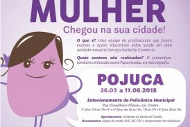 Parceria entre a Prefeitura e o Sesc garante a realização de mamografias e preventivos em Pojuca
