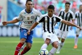 Da-lhe Bahia! Tricolor vence o Santos com gol nos acréscimos e soma seus primeiros três pontos no Brasileirão